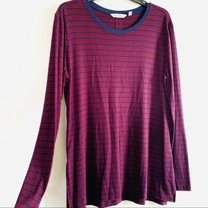 Athleta super soft striped long sleeve size M